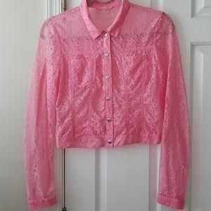 H&M lace jacket. Sz XS
